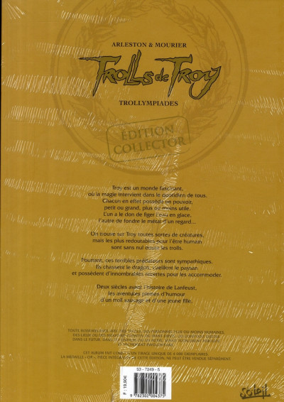Dos Trolls de Troy - édition collector tome 11 - médaille d'or