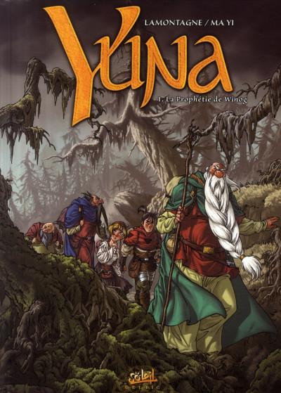 Couverture yuna tome 1 - la prophétie de winog