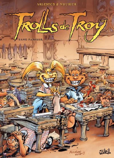 Couverture trolls de troy tome 12 - sang famille