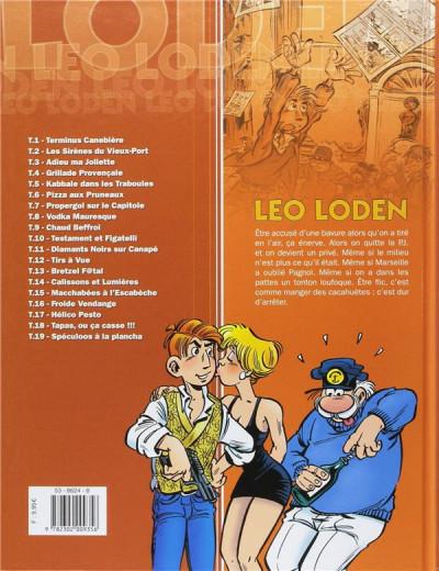 Dos Pack Léo loden tome 19 + la version en bruxellois