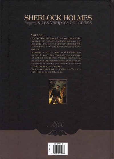 Dos sherlock holmes et les vampires de londres tome 2