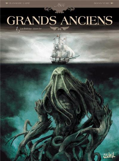 Couverture grands anciens tome 1 - la baleine blanche