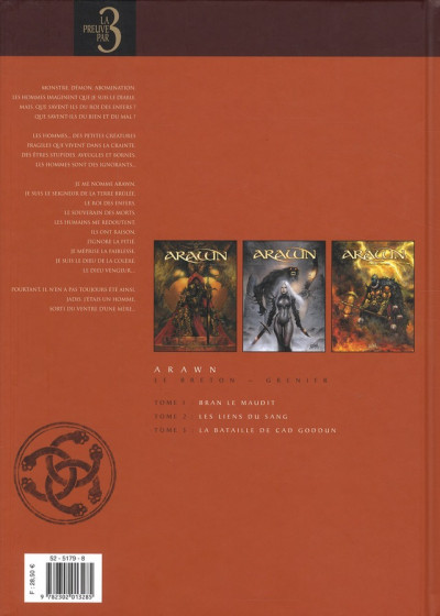 Dos arawn - preuve par 3 tome 1 à 3