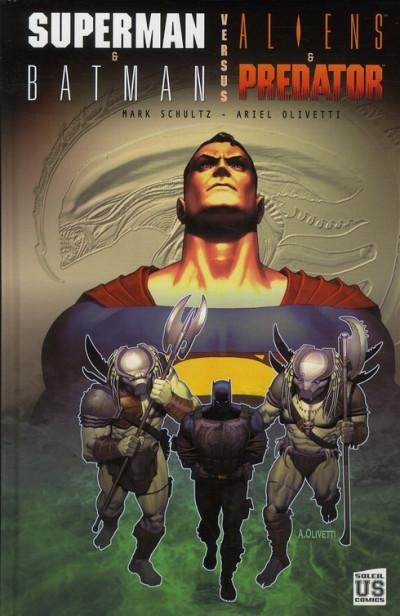 Couverture SUPERMAN et BATMAN vs ALIENS et PREDATOR