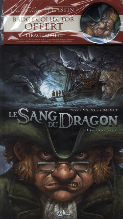 Couverture le sang du dragon tome 4 - l'enchanteur iweret - + bagde collector
