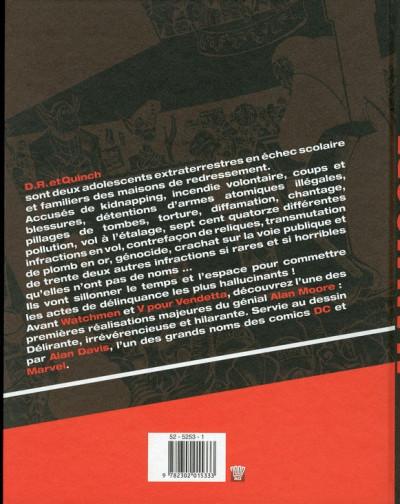 Dos les introuvables d'Alan Moore ; Dr & Quinch, délinquants cosmiques