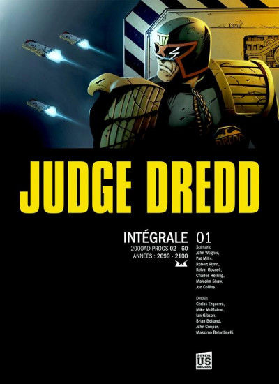 Couverture judge Dredd - intégrale tome 1