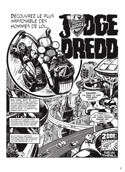 Page 1 judge Dredd - intégrale tome 1