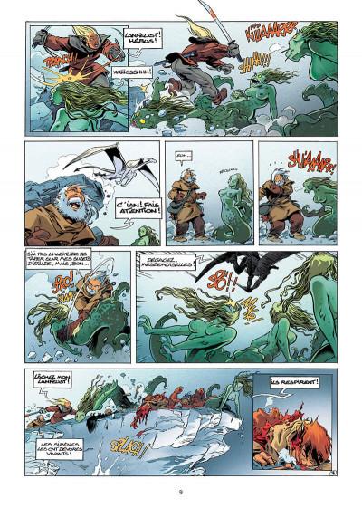 Page 9 Lanfeust de Troy tome 7 - les pétaures se cachent pour mourir