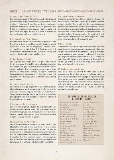 Page 9 encyclopédie anarchique du monde de Troy T.1 - données essentielles