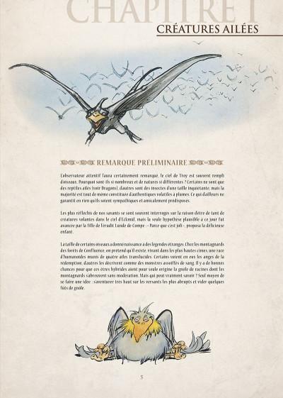 Page 6 encyclopédie anarchique du monde de Troy T.3 - le bestiaire