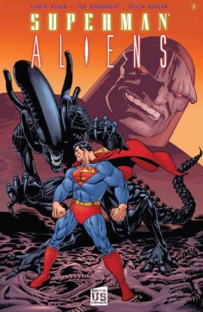 Couverture Superman / aliens tome 2 - guerre divine