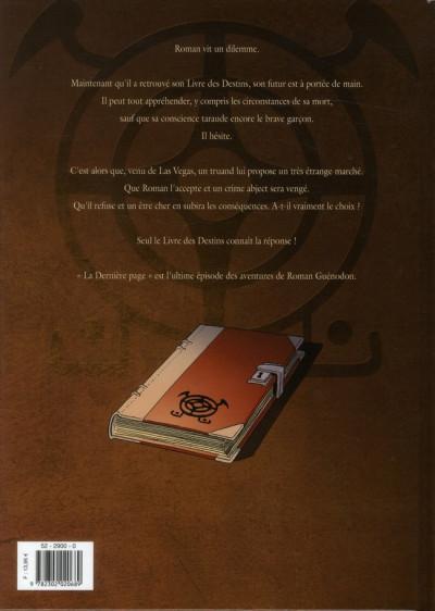 Dos le livre des destins tome 5 - la dernière page