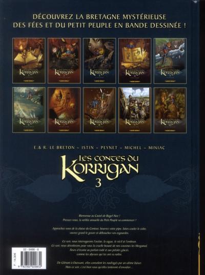 Dos les contes du Korrigan tome 3 - les fleurs d'écume (édition 2012)