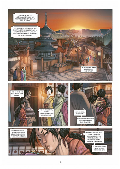 Page 1 petite geisha tome 1 - l'Okiya des mystères