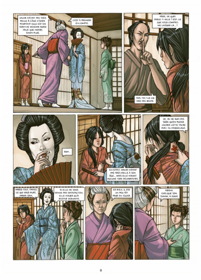 Page 6 petite geisha tome 1 - l'Okiya des mystères