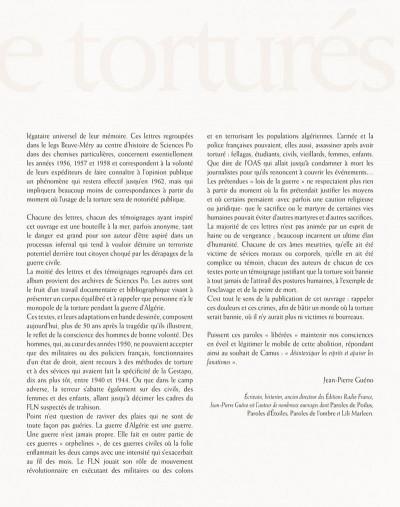 Page 6 paroles de la guerre d'Algérie, 1954-1962