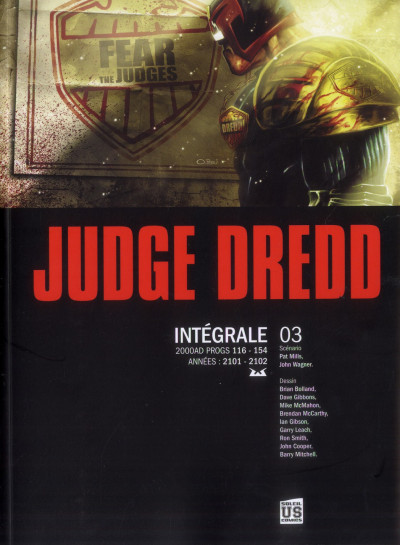 Couverture judge Dredd - intégrale tome 3