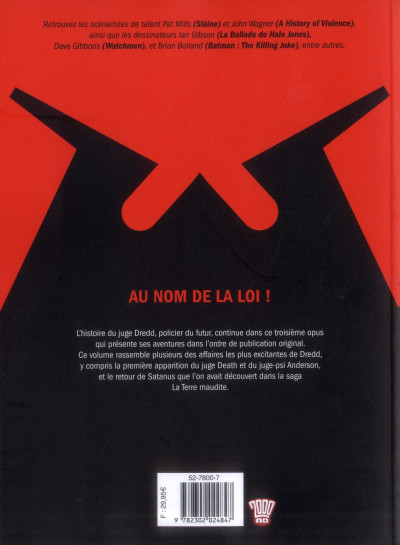 Dos judge Dredd - intégrale tome 3