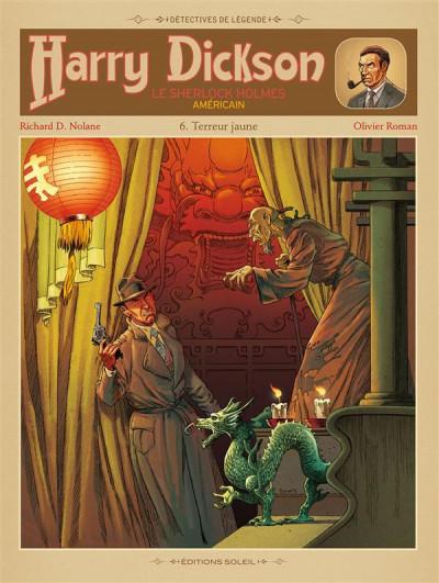 Couverture Harry Dickson, le Sherlock Holmes américain T.6 - terreur jaune