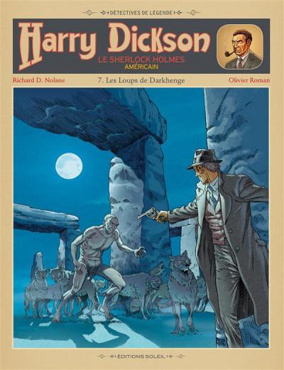 Couverture Harry Dickson, le Sherlock Holmes américain T.7 - les loups de Darkhenge