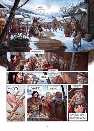 Page 2 Erik le Rouge tome 1 - le trésor du Vinland