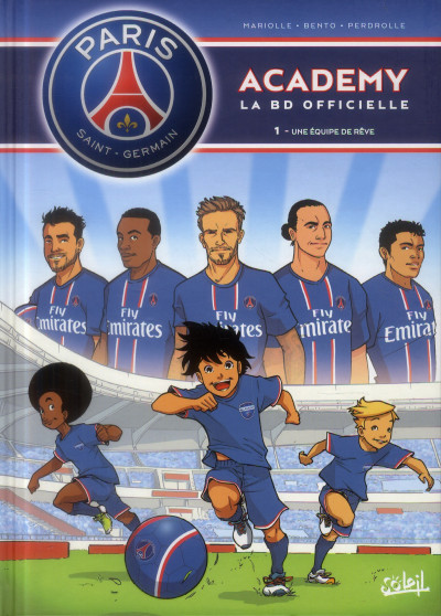 Couverture PSG academy tome 1