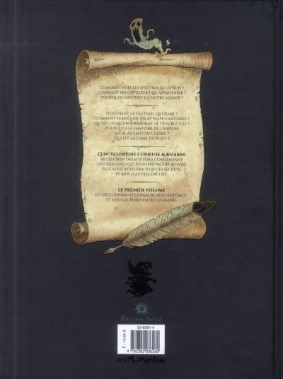 Dos L'encyclopédie curieuse et bizarre par Billy Brouillard tome 1