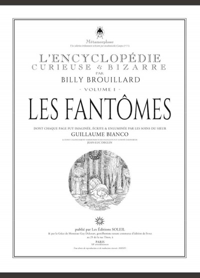 Page 1 L'encyclopédie curieuse et bizarre par Billy Brouillard tome 1