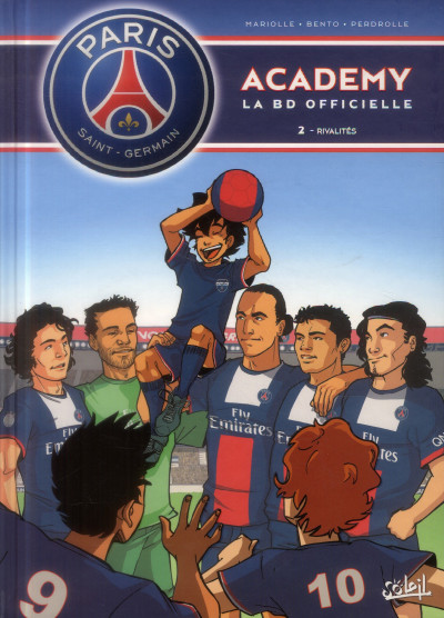 Couverture PSG Academy - la BD officielle tome 2 - rivalités