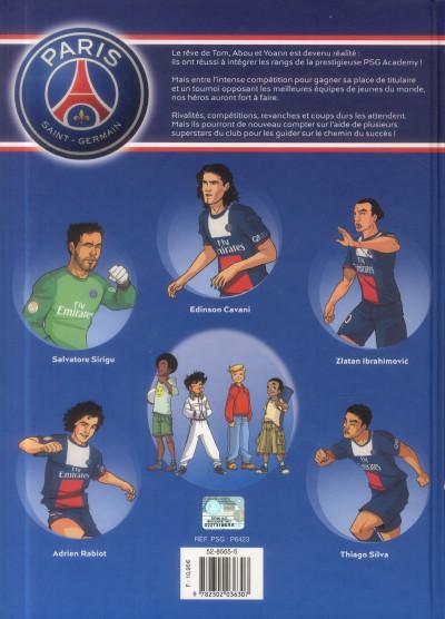 Dos PSG Academy - la BD officielle tome 2 - rivalités