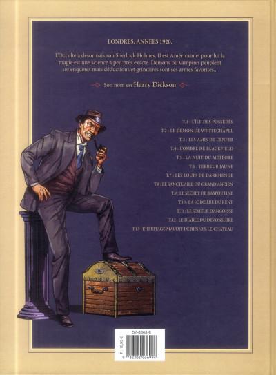 Dos Harry Dickson Tome 11 - Le Semeur d'angoisse (nouvelle édition)
