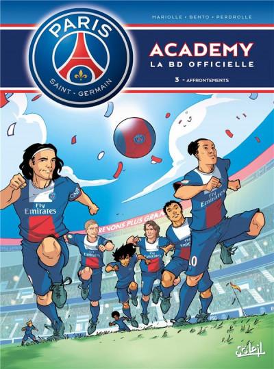 Couverture PSG Academy  Tome 3 - Affrontements