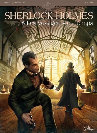 Couverture Sherlock Holmes et les voyageurs du temps Tome 1 - La Trame