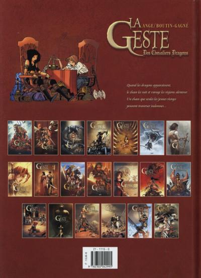 Dos La Geste des Chevaliers dragons tome 19