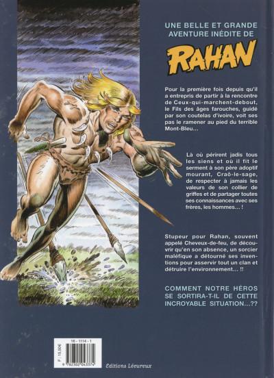 Dos Rahan tome 1 - Le Retour au mont Bleu