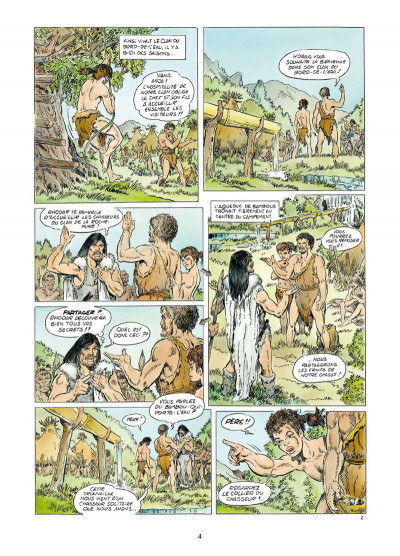 Page 2 Rahan tome 1 - Le Retour au mont Bleu