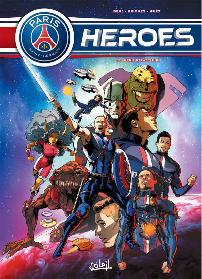 Couverture PSG Heroes tome 2