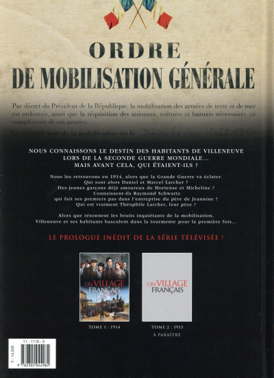 Dos Un village français tome 1 - 1914