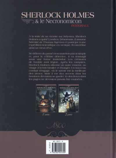 Dos Sherlock Holmes et le Necronomicon - Intégrale tome 1 et tome 2
