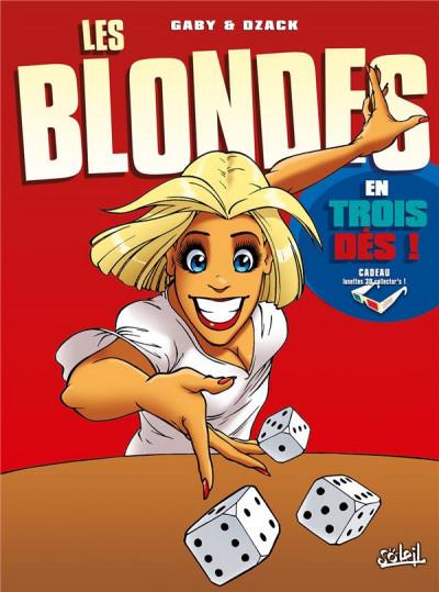 Couverture Les Blondes en 3D tome 4 - Les Blondes en trois dés ! (+ lunettes 3D)