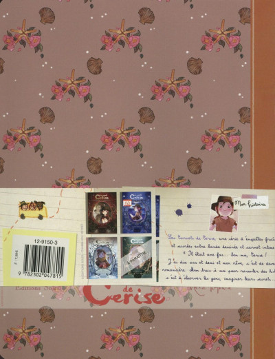 Dos Pack 3 cahiers Les carnets de Cerise