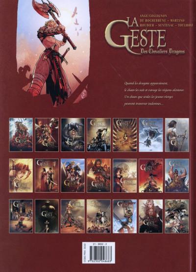 Dos La Geste des Chevaliers dragons tome 21