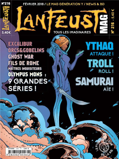 Couverture LANFEUST MAG N.216