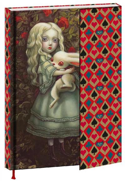 Couverture Alice au pays des merveilles - carnet