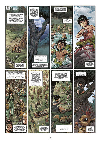 Page 1 Elfes tome 17 - Le sang noir des Sylvains