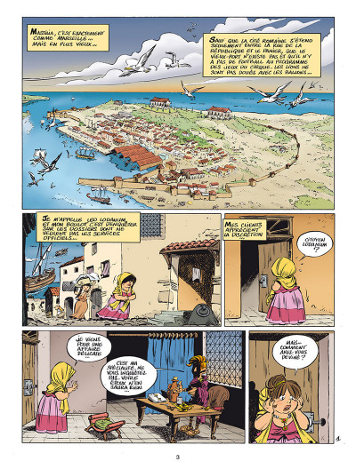 Page 1 Léo Loden tome 25 - Massilia Aeterna