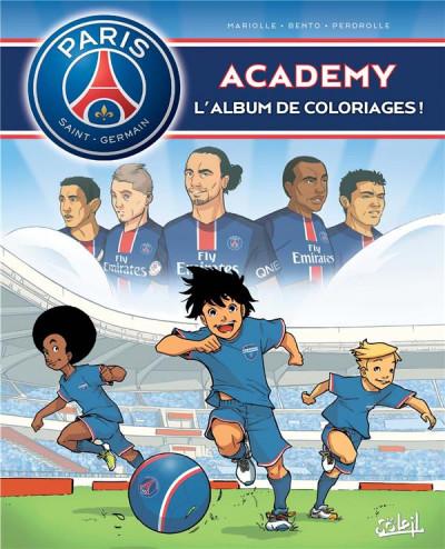 Couverture Paris Saint-germain academy tome 2 - l'album de coloriages !