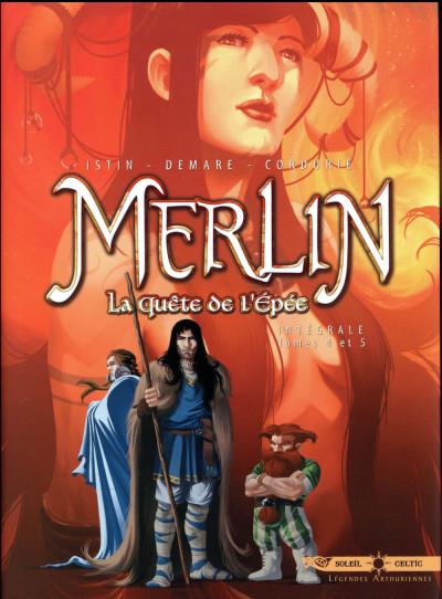 Couverture Merlin la quête de l'épée - intégrale tome 2