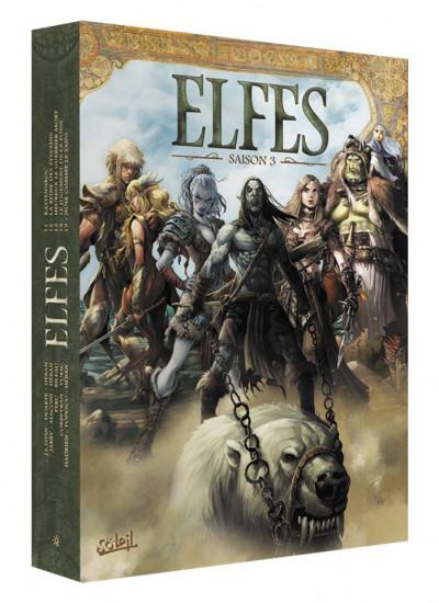 Couverture Elfes - coffret tomes 11 à 15